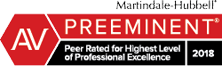 Ranked as AV Preeminent by Martindale-Hubbell®