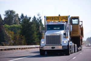 truck having oversized and improper loads